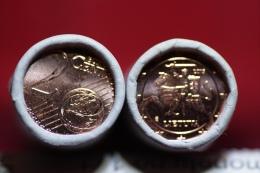 Lithuania 2 Euro Cent 2015 Bank Roll Of 50 Pcs UNC - Lituania