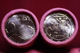 Lithuania 5 Euro Cent 2015 Bank Roll Of 50 Pcs UNC - Lituania
