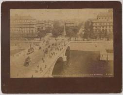 Real Photo - Paris - Perspective De La Place Du Chatelet Et Du Boulevard De Strasbourg - Tramway - 1890 - Photos