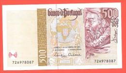 # PORTUGAL 500 Escudos Chapa 13 11/09/1997 P#187b AUNC - Portugal