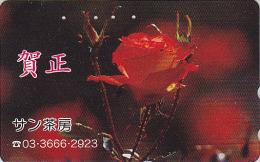 Télécarte Japon - FLEUR ROSE ROUGE - Flower Japan Phonecard - Blume Telefonkarte - 1885 - Fleurs