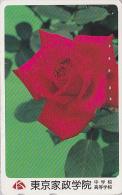 Télécarte Japon - FLEUR ROSE ROUGE - Flower Japan Phonecard - Blume Telefonkarte - 1888 - Fleurs