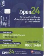 GREECE - Eurobank 4/Open 24, Tirage 35000, 06/01, Dummy Telecard(no Chip, No CN) - Grèce