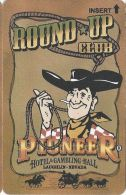 Pioneer Hotel & Gambling Hall Laughlin NV - BLANK Slot Card - Casino Cards