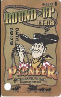 Pioneer Hotel & Gambling Hall Laughlin NV - PRINTED Slot Card - Casino Cards