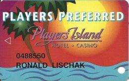 Players Island Casino Lake Charles, LA - PRINTED Slot Card - Casino Cards