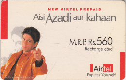 INDIA - Airtel Recharge Card Rs.540, Used - India