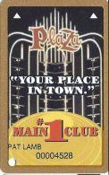 Plaza Casino Las Vegas, NV - Slot Card With No Text Over Mag Stripe - Casino Cards