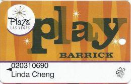 Plaza Casino Las Vegas, NV - PRINTED Slot Card - Reverse Text INDENTED - Casino Cards