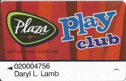 Plaza Casino Las Vegas, NV - Slot Card - Casino Cards