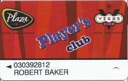 Plaza Casino Las Vegas, NV - PRINTED Slot Card - Casino Cards