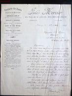 MAUBEUGE FACTURE FONDERIE DE FONTE CUIVRE § BRONZE JULES MERCIER 42 RUE DE LA LIBERTE 59 NORD - 1900 – 1949