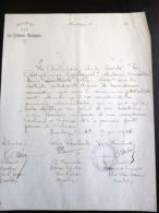 MAUBEUGE FACTURE SOCIETE S.A.G. LES CARABINIERS MAUBEUGEOIS + CACHET CARABINE TIR FUSIL 59 NORD - France