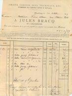 MAUBEUGE FACTURE JULES BRACQ GRAIN FARINE SON TOURTEAUX GRANINERIE PRIMEUR 59 NORD - France