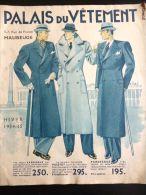 MAUBEUGE PALAIS DU VETEMENT CATALOGUE MODE MASCULINE HIVER 1934-1935 COSTUME ROBE CHAPEAU FOURRURE RUE DE FRANCE FASHION - Fashion