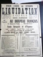 """MAUBEUGE FACTURE PUBLICITE """" AU DRAPEAU FRANCAIS """" 57 AVENUE DE FRANCE TEXTILE SOLDE VETEMENT MODE 59 NORD - Francia"""