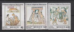 Mexico Mi 1837-1839 Mexican Indigenous Codices - The Astrologer - Admission To School - Musicians - 1982 * * - Mexico