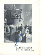 MAUBEUGE LA FABRIQUE DE FER DEPLIANT POUR LES VOEUX DE L'ANNE 1954 ACIERIE MARTIN-SIEMENS LAMINOIRS FORGES USINE 59 NORD - Publicités