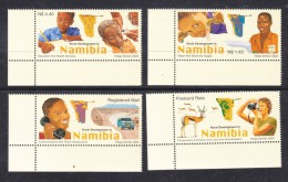 Namibia, 2003, Developmet, Set Of 4 MNH ** - Namibia (1990- ...)