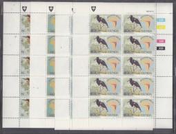 Venda, 1983, Migratory Birde, Full Sheets Of 10, MN ** - Venda
