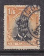 Southern Rhodesia1924 Admiral Head, 1/6, Black & Yellow, Used - Southern Rhodesia (...-1964)