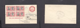 Southern Rhodesia, 1d George VI Envelope + 4 X 1d Royal Visit, ROYAL TOUR / ROYAL TRAIN REGIOSTERED > Johannesburg - Southern Rhodesia (...-1964)
