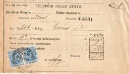 1921 FIRENZE - TELEFONI DI STATO - Italia