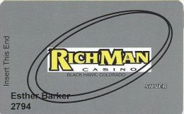 RichMan Casino Black Hawk, CO - Silver Slot Card - Casino Cards