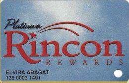 Rincon Casino Valley Center, CA - Platinum Slot Card - Casino Cards