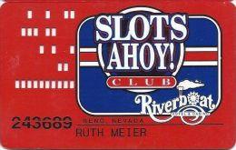 Riverboat Casino Reno, NV - Small Logo  Slot Card With Phone#s - Casino Cards