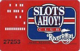 Riverboat Casino Reno, NV - Larger Logo Slot Card - Casino Cards