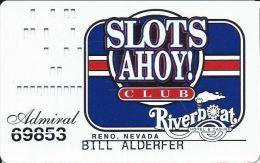 Riverboat Casino Reno, NV - Admiral Level Slot Card - Casino Cards