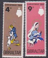 Gibraltar 1969 Cristmas Set MNH - Gibraltar