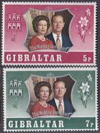 Gibraltar 1972 Silver Wedding  Set MNH - Gibraltar
