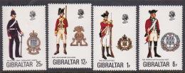 Gibraltar 1976 Uniforms Set MNH - Gibraltar