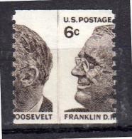 6 Cents Franklin Roosevelt DRAMATIC PERFORATION ERROR MNH Very Fine (u35) - Errors, Freaks & Oddities (EFOs)