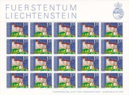 Liechtenstein 1975 Heritage Year ,Gutemberg Castle Sheetlet MNH - Liechtenstein