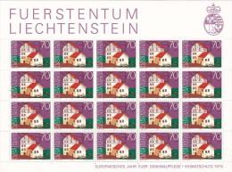 Liechtenstein 1975 Heritage Year ,Prebentary House Sheetlet MNH - Liechtenstein