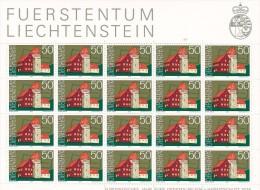 Liechtenstein 1975 Heritage Year ,Red House Sheetlet MNH - Liechtenstein
