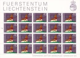Liechtenstein 1975 Heritage Year ,St Mamerten Sheetlet MNH - Liechtenstein