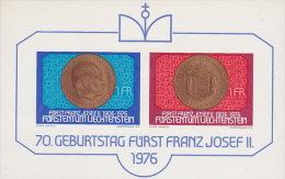 Liechtenstein 1976 70th Birthday Prince Franz Joseph Mini Sheet MNH - Liechtenstein