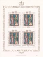 Liechtenstein 1979 Patron Saints Of Liechtenstein Sheetlret MNH - Liechtenstein