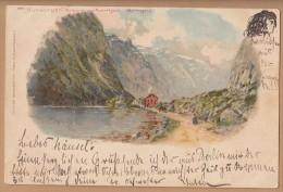 Norway  GUDWAGEN Art Card Post Used 1898  Ny128 - Norvegia