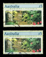 Australia 1989 Botanic Gardens $5 Mawarra Two Copies Used - 1980-89 Elizabeth II