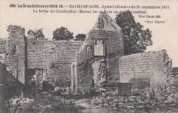 Cp , MILITARIA , La Grande Guerre 1914-16 , En CHAMPAGNE , Après L'offensive Du 25/09/15, La Ferme De Constantine - Guerre 1914-18