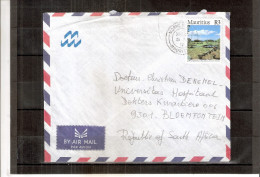 Cover From Mauritius To South Africa (to See) - Maurice (1968-...)