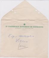 (EE) Esperanto Hungary Stationery - Envelope 21 Universala Kongreso De Esperanto 1929 Budapest - Hungario - Organisaties