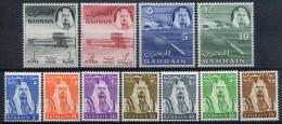 1964- BAHRAIN-EMIR-DEFINITIVES- 11 VAL.- M.N.H. -LUXE !! - Bahrain (1965-...)