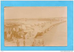 MOSSOUL-carte Photo -animée -pont Flottant  De Bateaux Relié Au Pont En Dur-années 1910-20 - Iraq