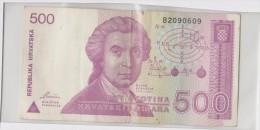 Croatie 500 Dinara 1991 P21 Circulé - Croatia